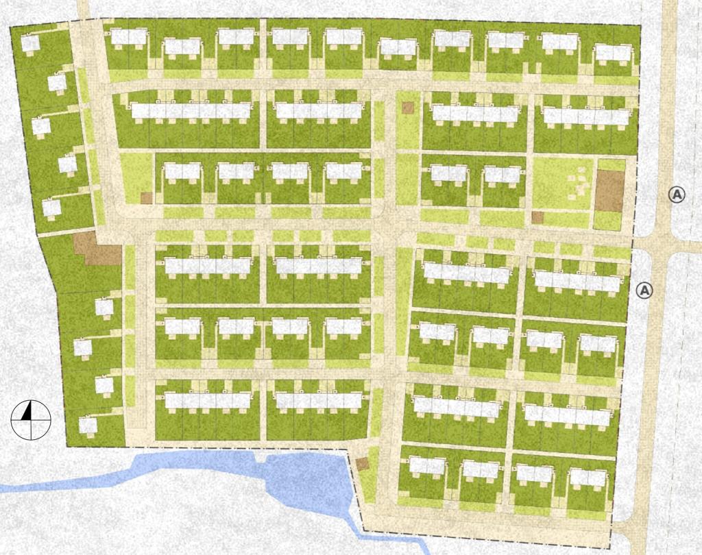 przykładowy układ urbanistyczny osiedla